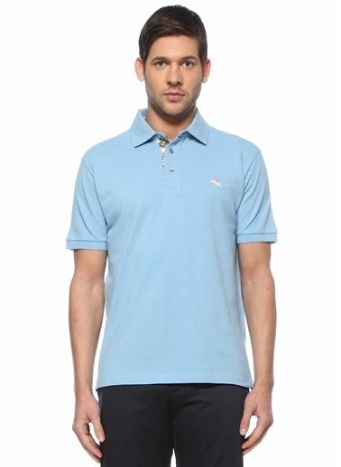 Etro Etro  Polo Yaka Logolu T-shirt 101618005 Mavi